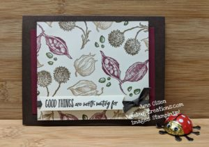 Junebug Creations card using Enjoy the Moment stampset from Stampin' Up!