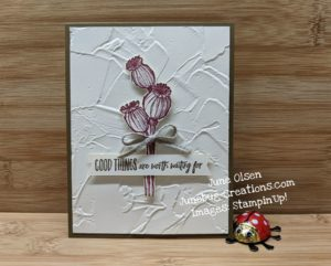 Junebug Creations Enjoy the Moment CAS (Clean and Simple) card for a challenge