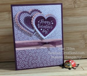Junebug Creations Vaentine's Oh So Ombre card