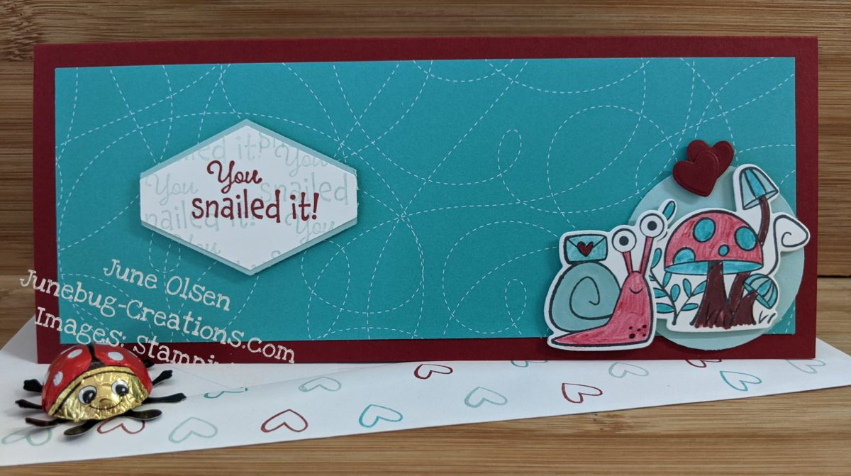 Junebug Creations You Snailed It card for the GSF BlogHop