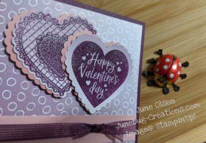 Junebug Creations heat embossed hearts