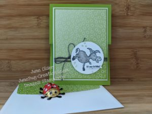 Junebug Creations Darling Donkey on Oh So Ombre DSP for ICS Blog Hop
