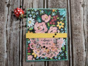 Junebug Creations Febrary Paper Pumpkin kit alternate using Flowers & Field DSP