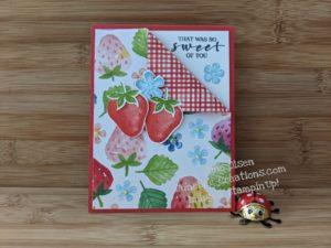 Junebug Creations GSF Blog Hop Sweet Strawberry card