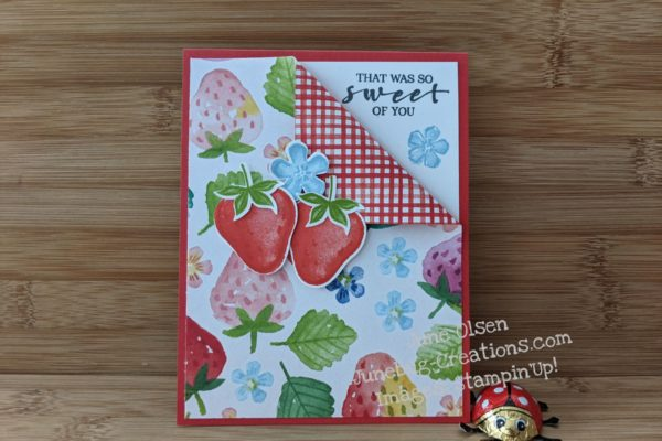 Junebug Creations GSF Blog Hop Sweet Strawberry card
