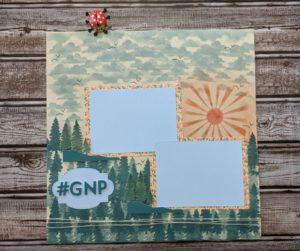 Junebug Creations Paper Pumpkin Possibilities BlogHop alternate project of a scrapbook page