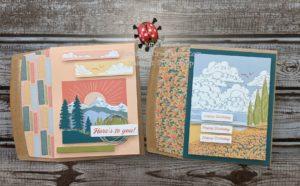 Junebug Creations Paper Pumpkin March kit cards as designed