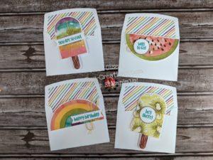 Junebug Creations Paper Pumpkin April kit So Cool original designed cards