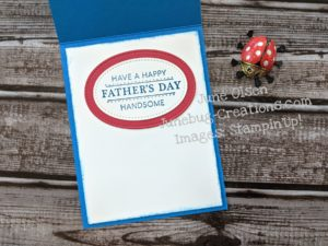 Junebug Creations ICS Bloghop handsomely Suited Father's Day card inside