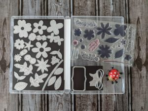 Junebug Creations InBloom stamp set and dies from Stampin' Up!