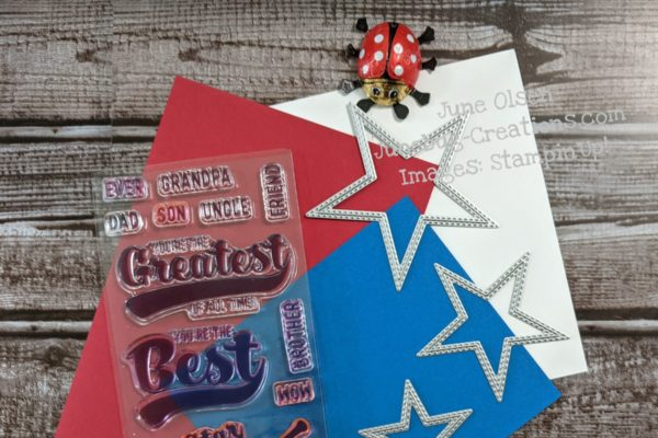 Junebug Creations PPPBlogHop ingredients for scrapbook page