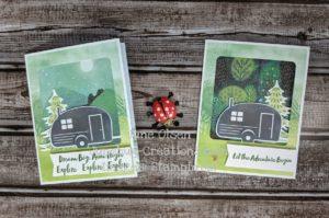 Junebug Creations alternate vs original campercard