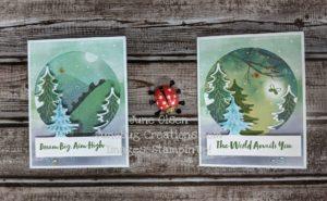 Junebug Creations alternate vs original forest card