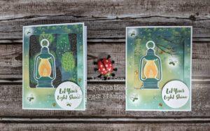 Junebug Creations alternate vs original lantern card