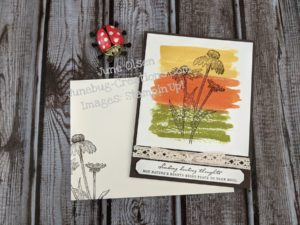 Nature's Harvest stamp set with water color card 2